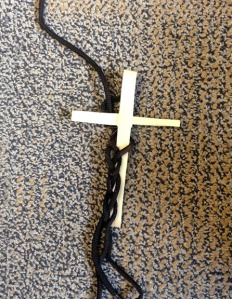 Three strands and cross